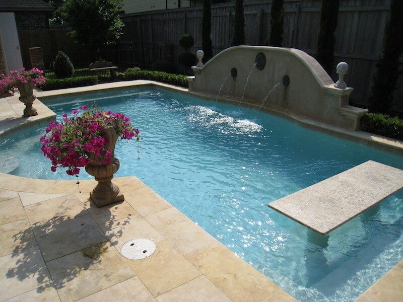 Small Pool With Granite Pool Table Bronze Emitters