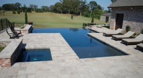 vanishing-edge-pool-dark-diamond-brite-plaster-brick-pavers-fire-bowls