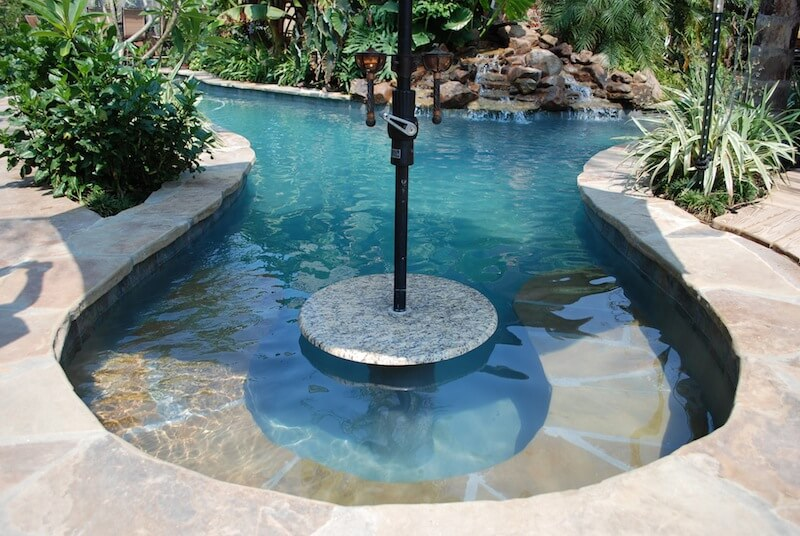 Elegant Natural Gunite Lagoon Pool With Rock Waterfall And