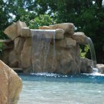 Rock waterfall and grotto