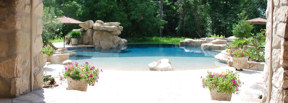 tub natural privacy patio designs with pool stone hot ideas