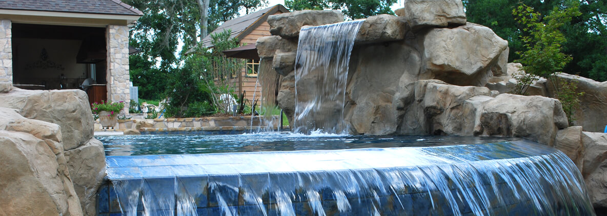 Custom Swimming Pool and Spa Water Features
