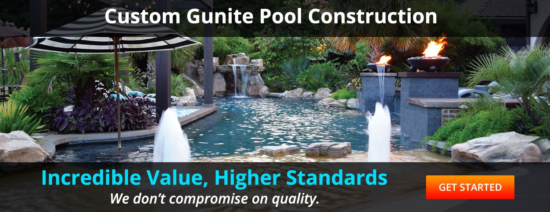 Custom Gunite Pool Construction